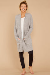 3 CozyChic Lite® Pewter Long Weekend Cardi at reddressboutique.com