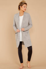 2 CozyChic Lite® Pewter Long Weekend Cardi at reddressboutique.com