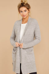 7 CozyChic Lite® Pewter Long Weekend Cardi at reddressboutique.com