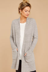 6 CozyChic Lite® Pewter Long Weekend Cardi at reddressboutique.com