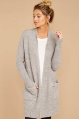 5 CozyChic Lite® Pewter Long Weekend Cardi at reddressboutique.com