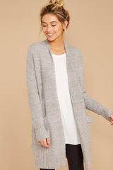 4 CozyChic Lite® Pewter Long Weekend Cardi at reddressboutique.com