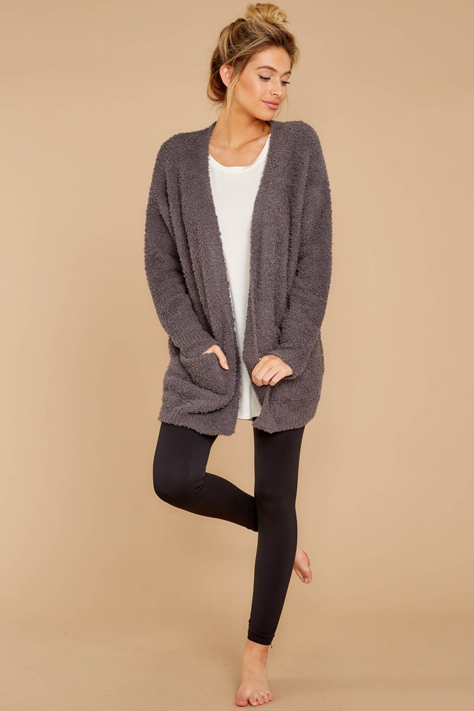 1 Get Closer Charcoal Grey Cardigan at reddressboutique.com