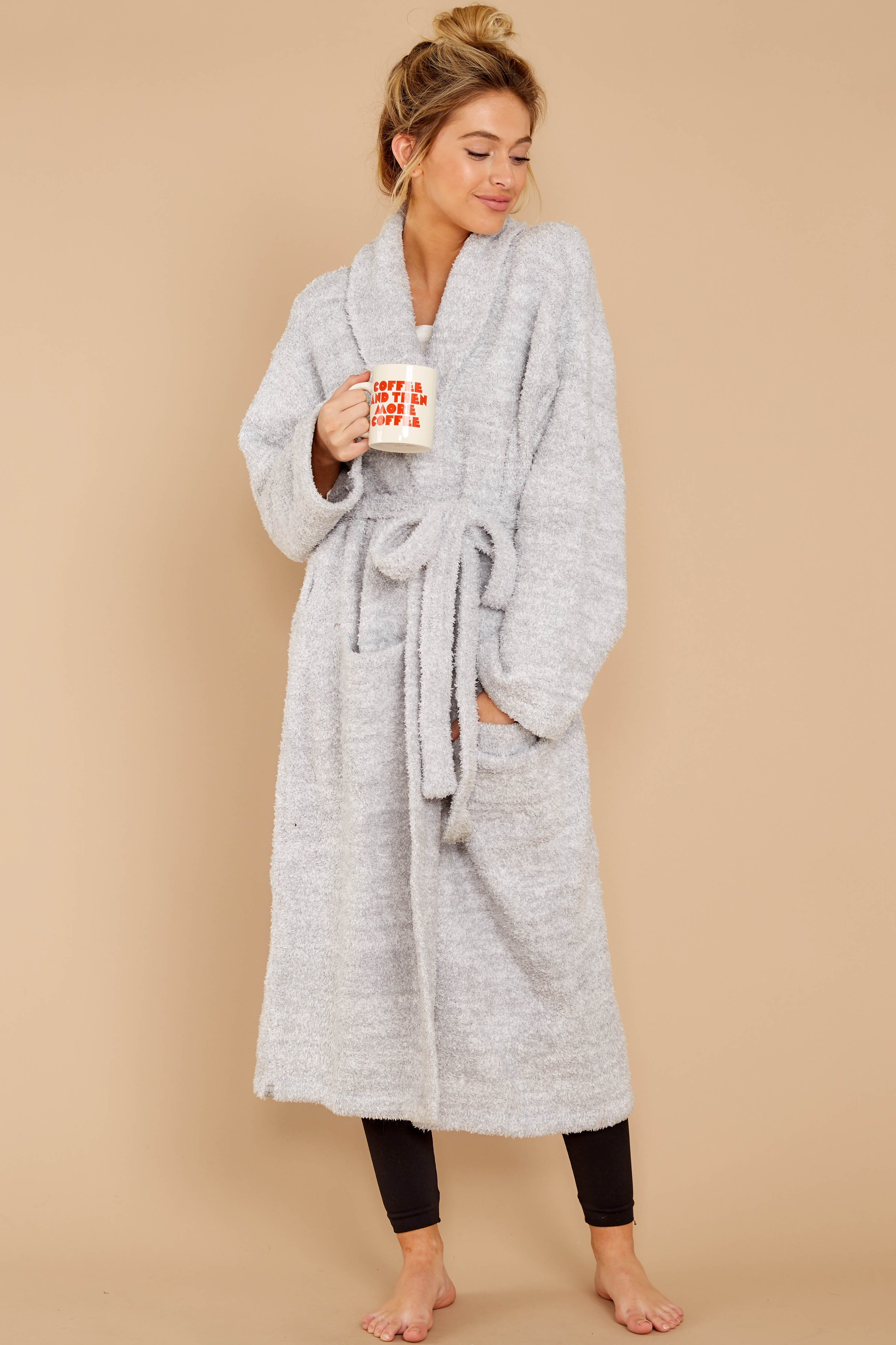 CozyChic® Ocean White Heathered Adult Robe