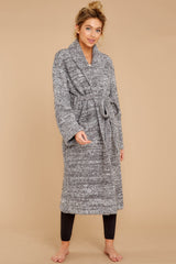 CozyChic® Graphite Heathered Adult Robe