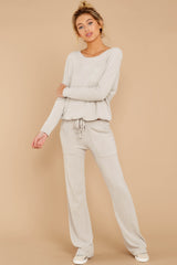 4 CozyChic Ultra Lite® Fog Grey Lounge Pants at reddressboutique.com