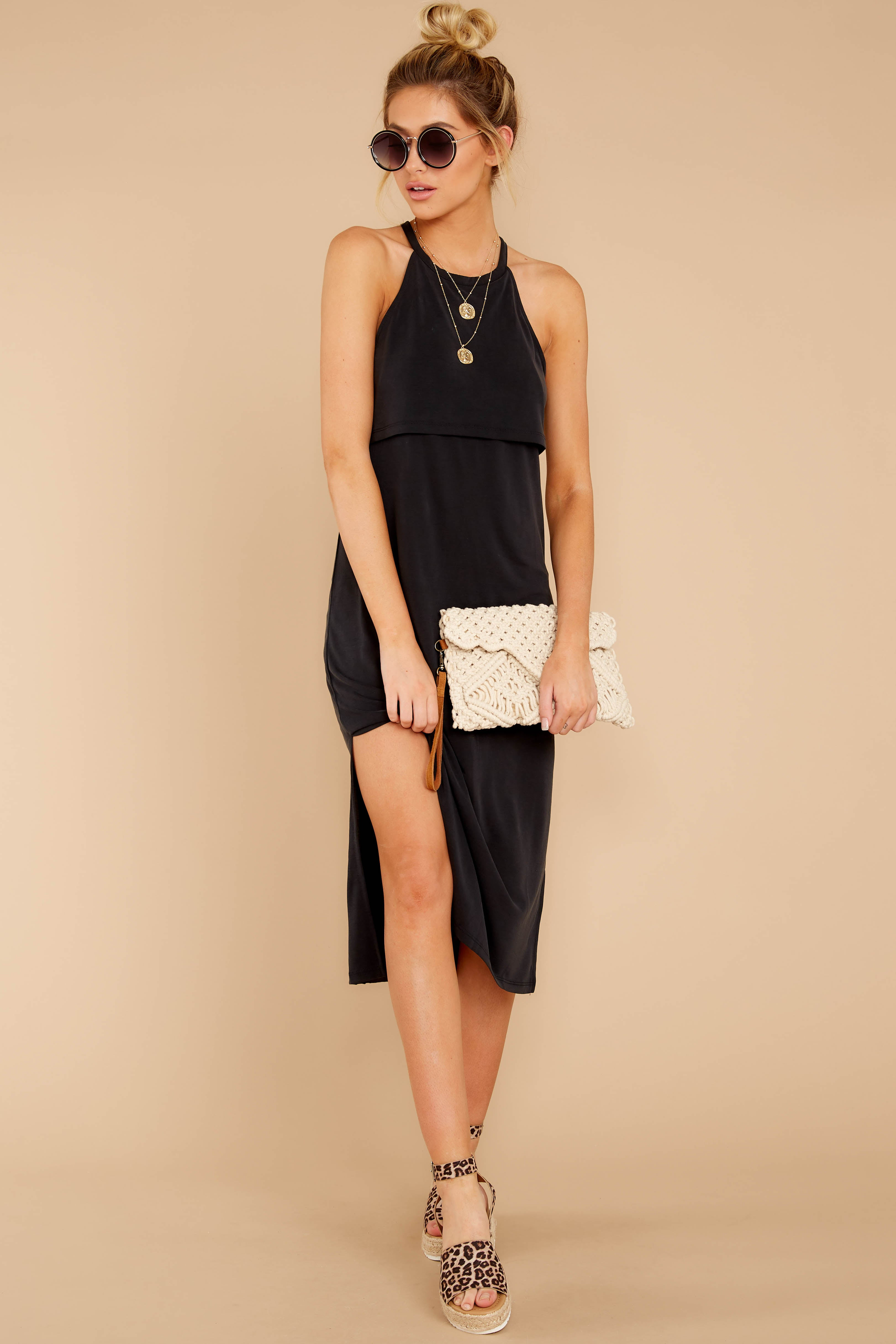1 Casual Obsession Black Midi Dress at reddress.com