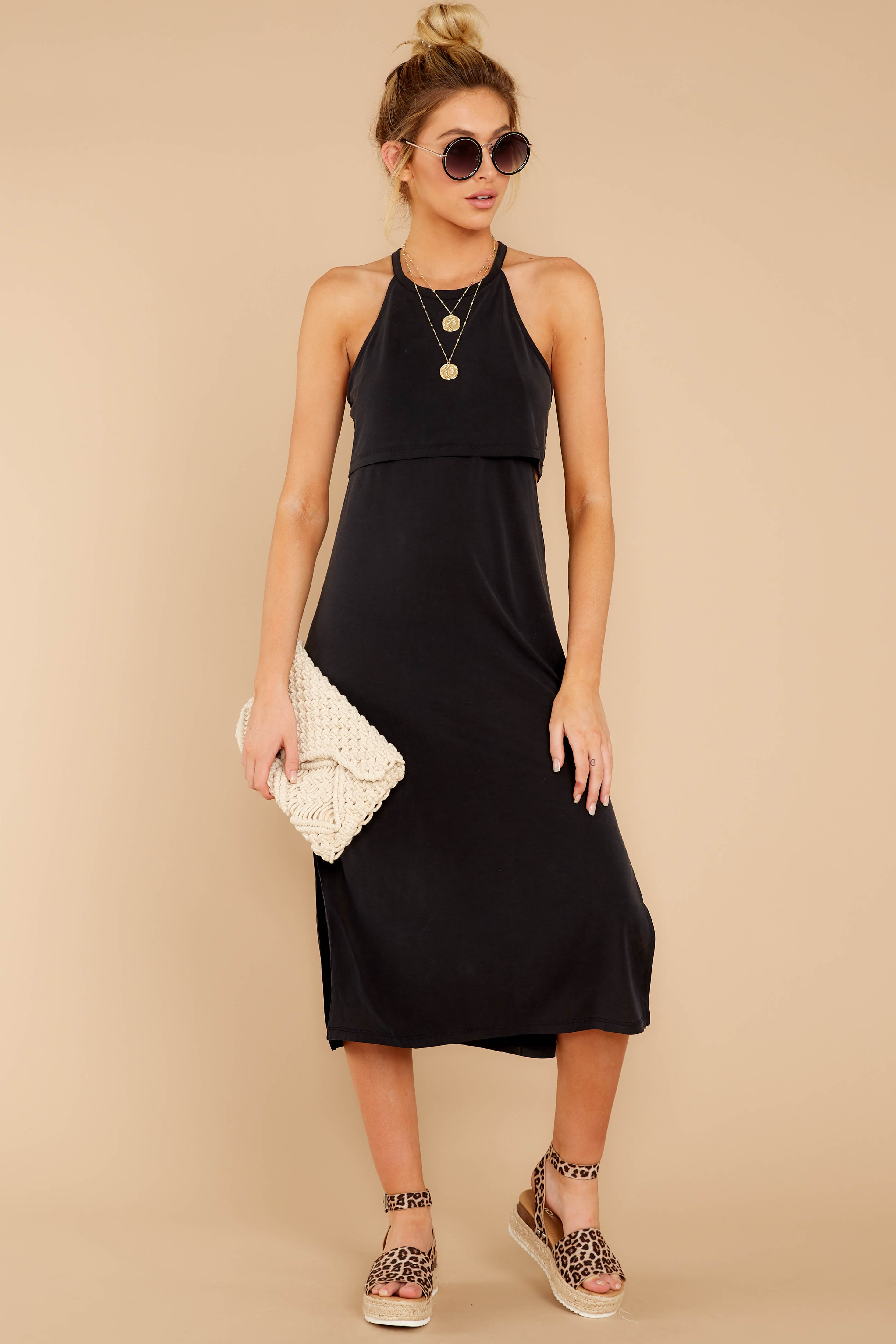 3 Casual Obsession Black Midi Dress at reddress.com