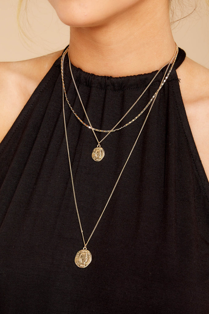 Pennies From Heaven Gold Necklace