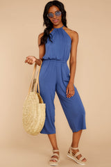 3 No Hesitations Parisian Blue Jumpsuit at reddressboutique.com