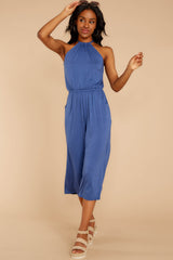 6 No Hesitations Parisian Blue Jumpsuit at reddressboutique.com