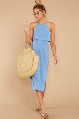 1 Casual Obsession Periwinkle Midi Dress at reddressboutique.com