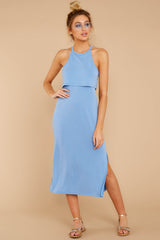 3 Casual Obsession Periwinkle Midi Dress at reddressboutique.com