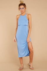 4 Casual Obsession Periwinkle Midi Dress at reddressboutique.com