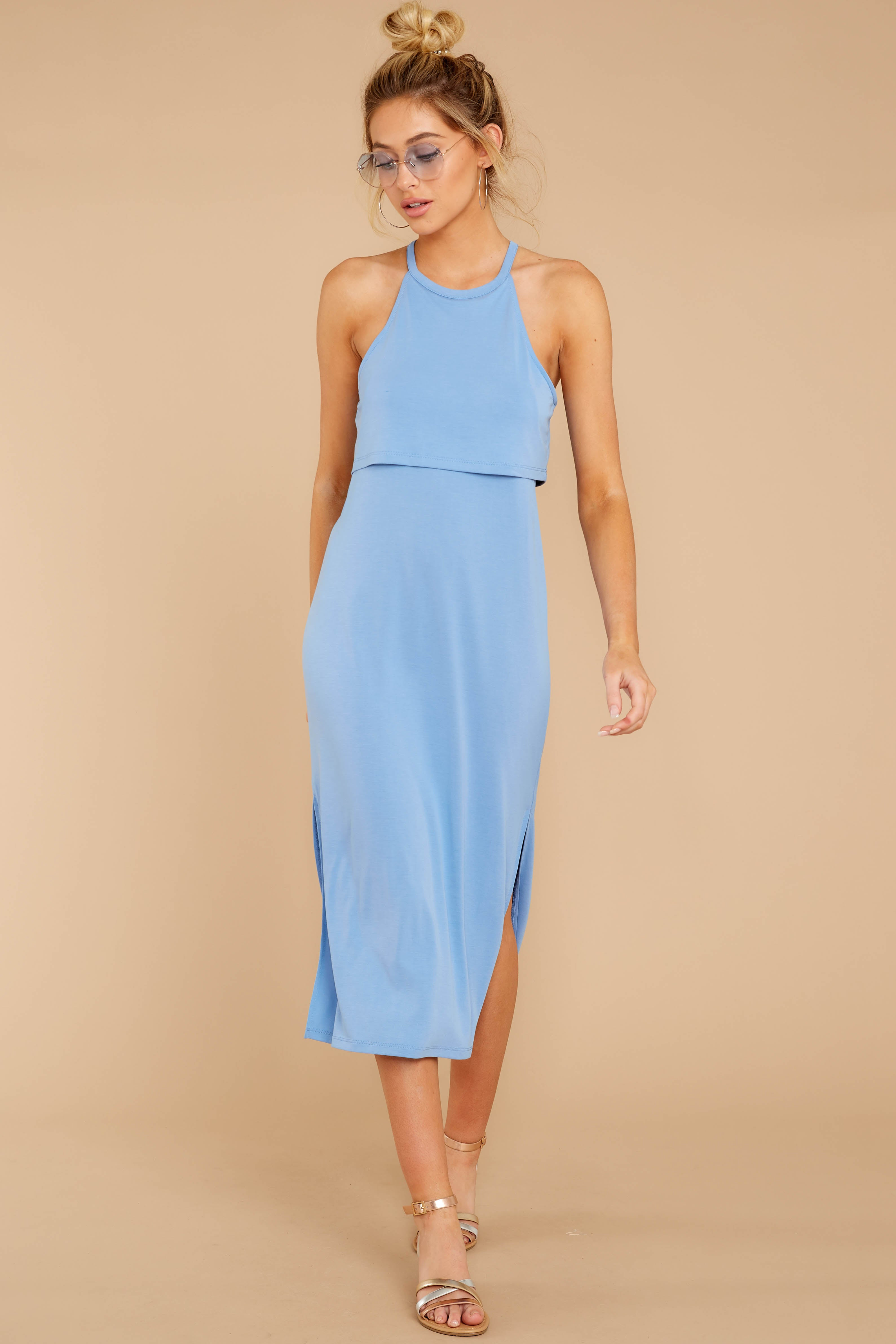 5 Casual Obsession Periwinkle Midi Dress at reddressboutique.com