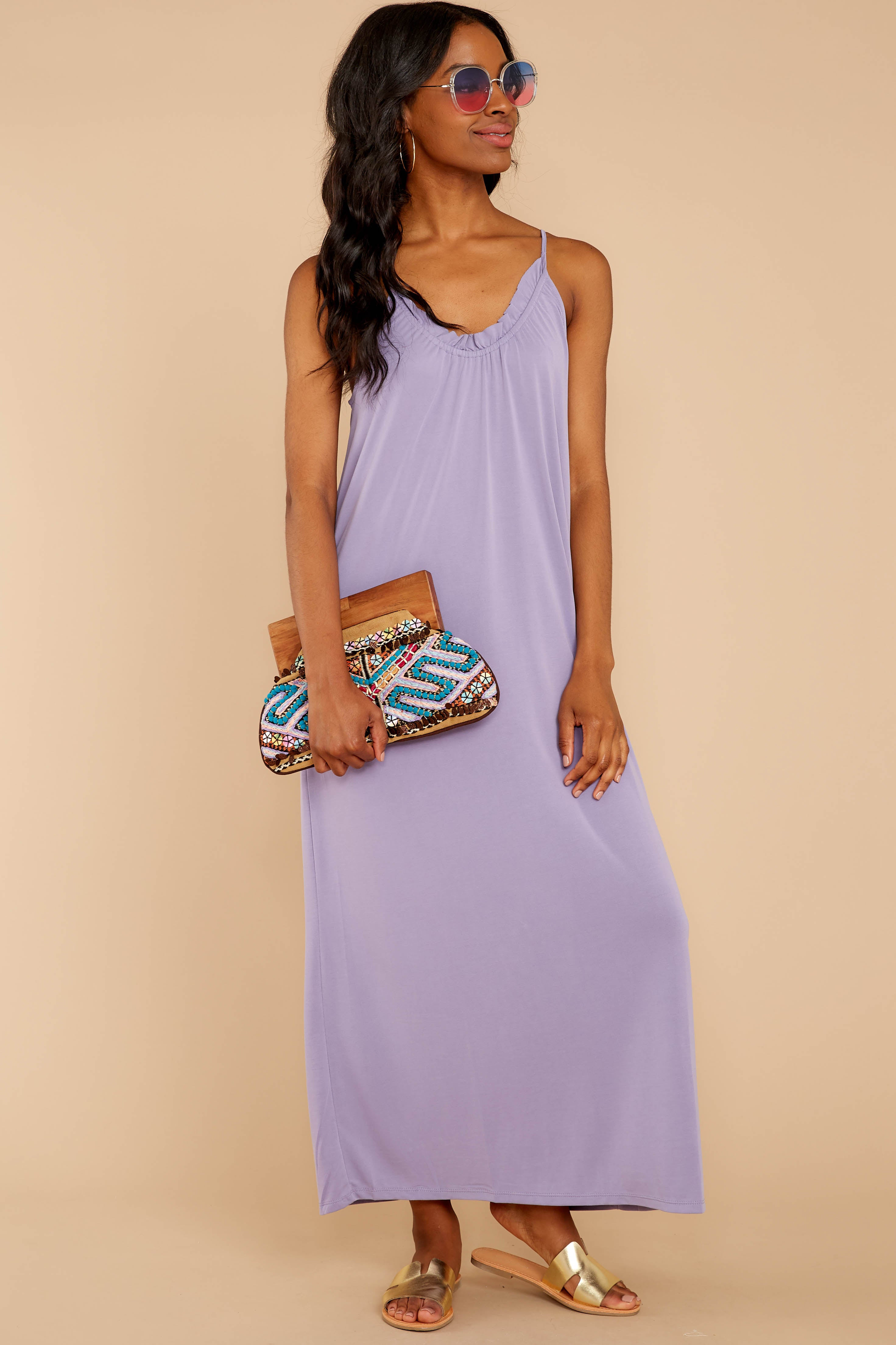 1 There Is Nothing Better Lilac Maxi Dress at reddressboutique.com