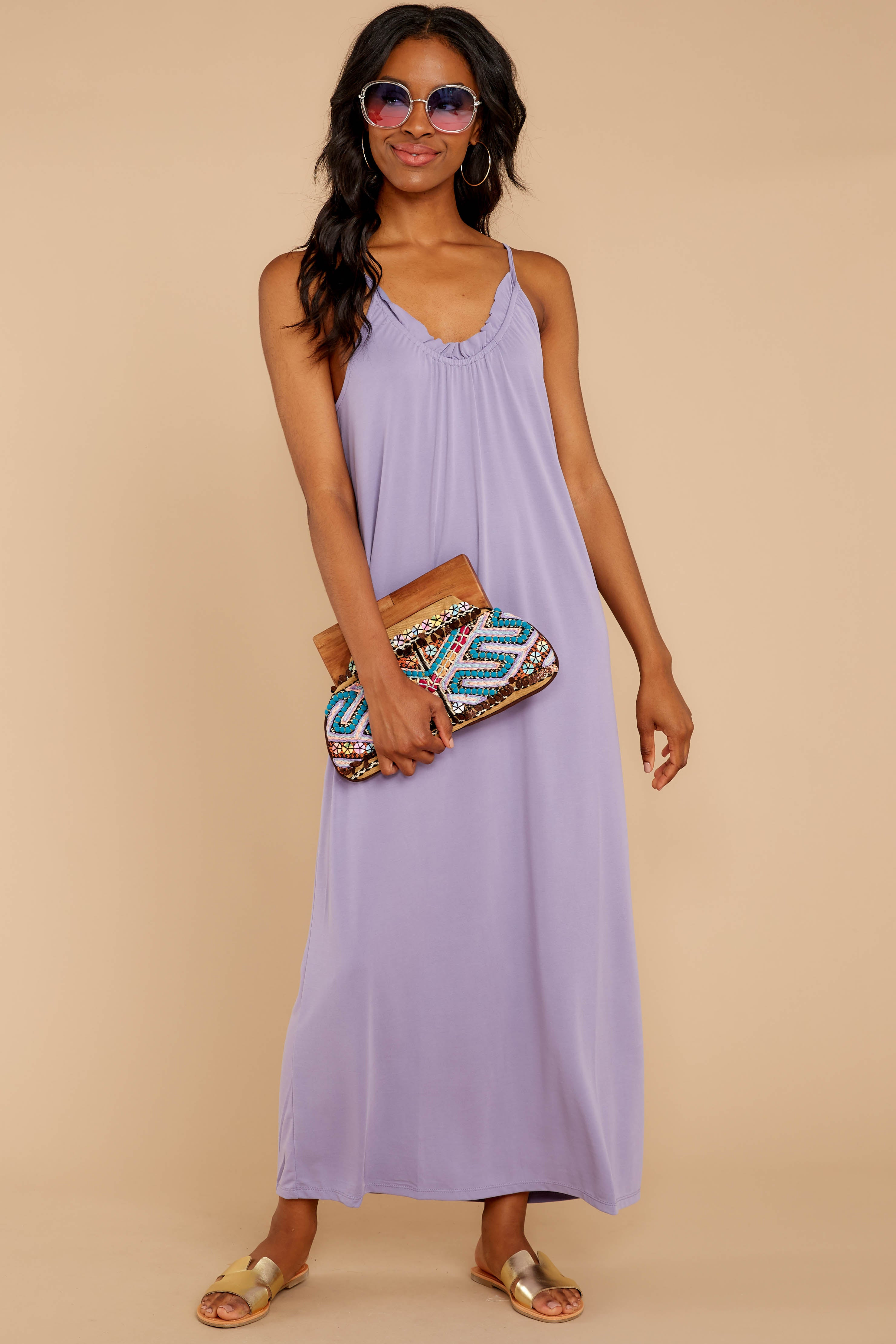 3 There Is Nothing Better Lilac Maxi Dress at reddressboutique.com