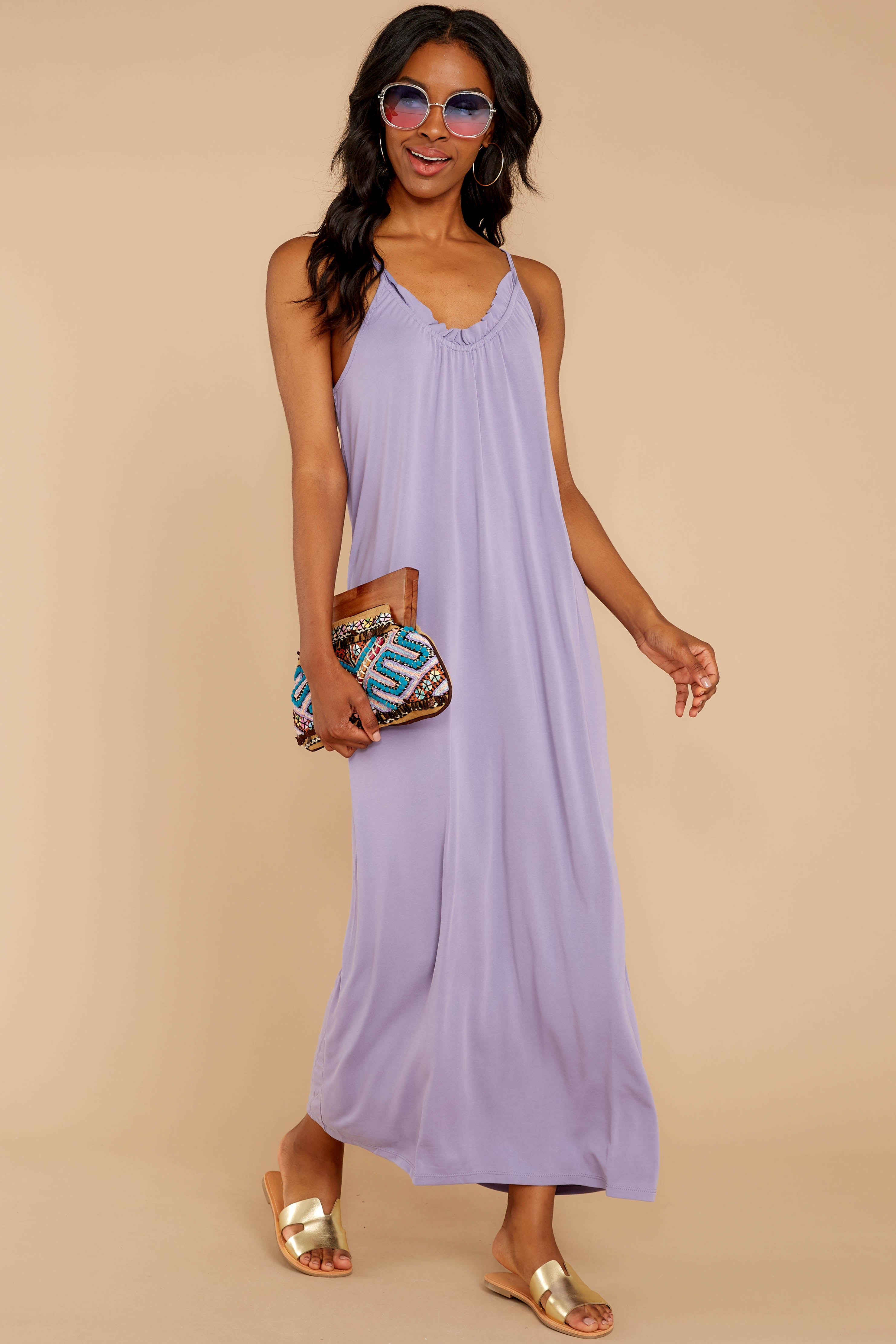 2 There Is Nothing Better Lilac Maxi Dress at reddressboutique.com