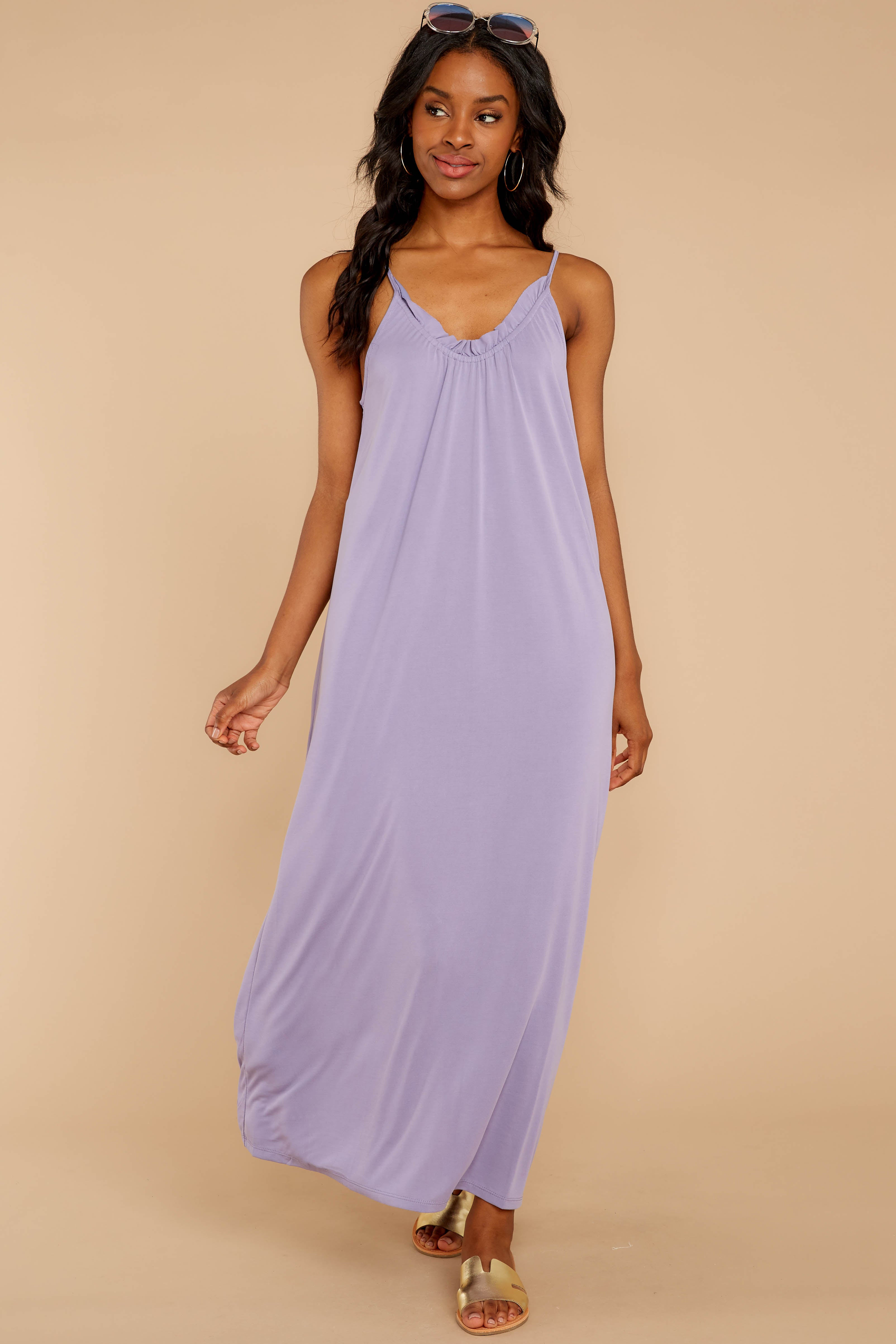5 There Is Nothing Better Lilac Maxi Dress at reddressboutique.com