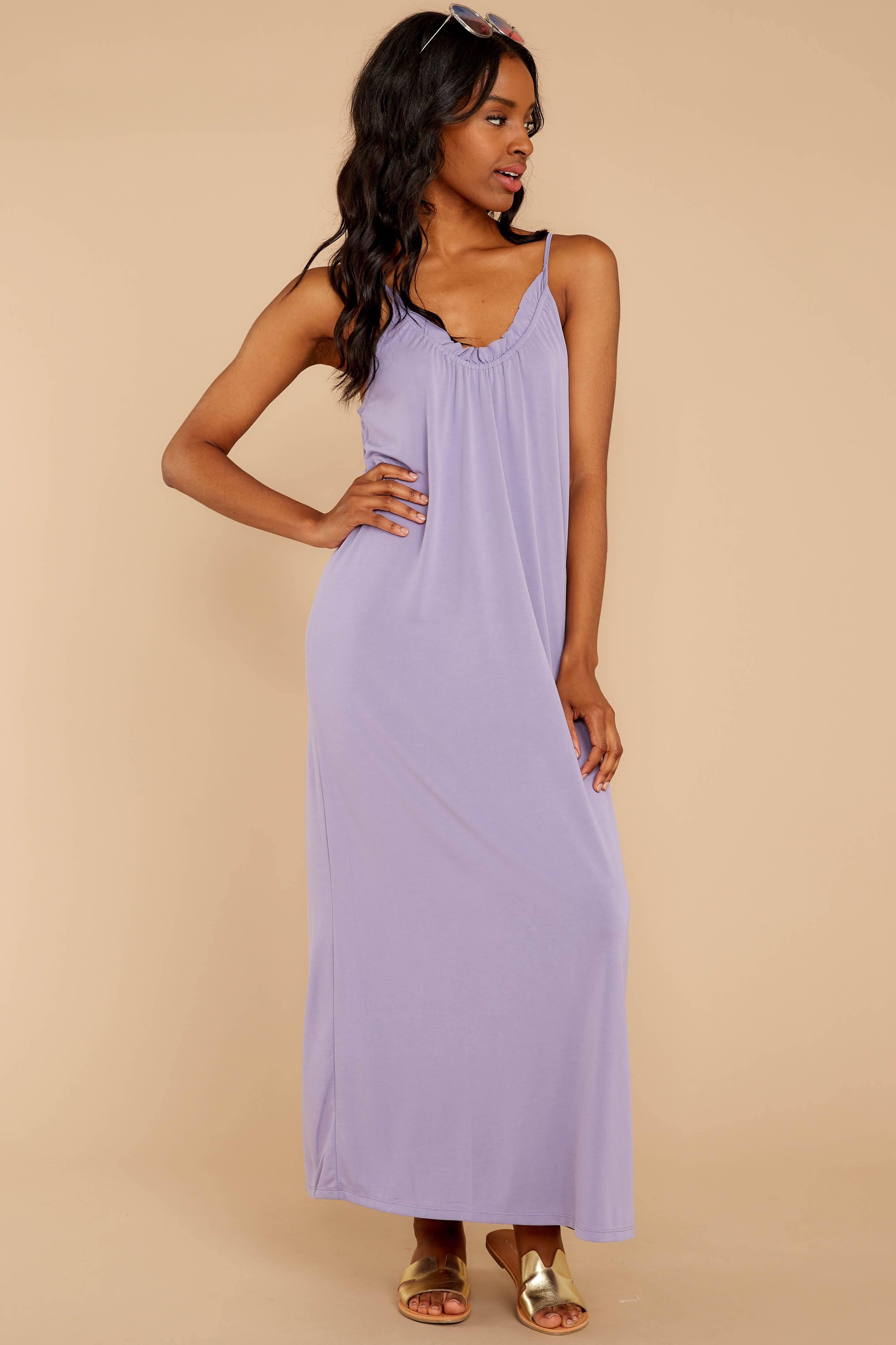6 There Is Nothing Better Lilac Maxi Dress at reddressboutique.com