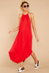 3 Close Your Eyes Red Maxi Dress at reddressboutique.com