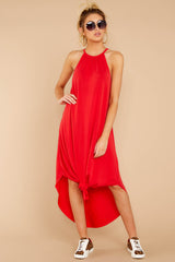 4 Close Your Eyes Red Maxi Dress at reddressboutique.com