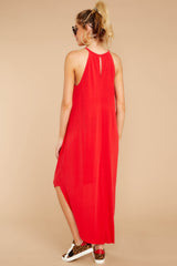 6 Close Your Eyes Red Maxi Dress at reddressboutique.com