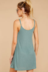 7 Do What You Need Porcelain Green Dress at reddressboutique.com