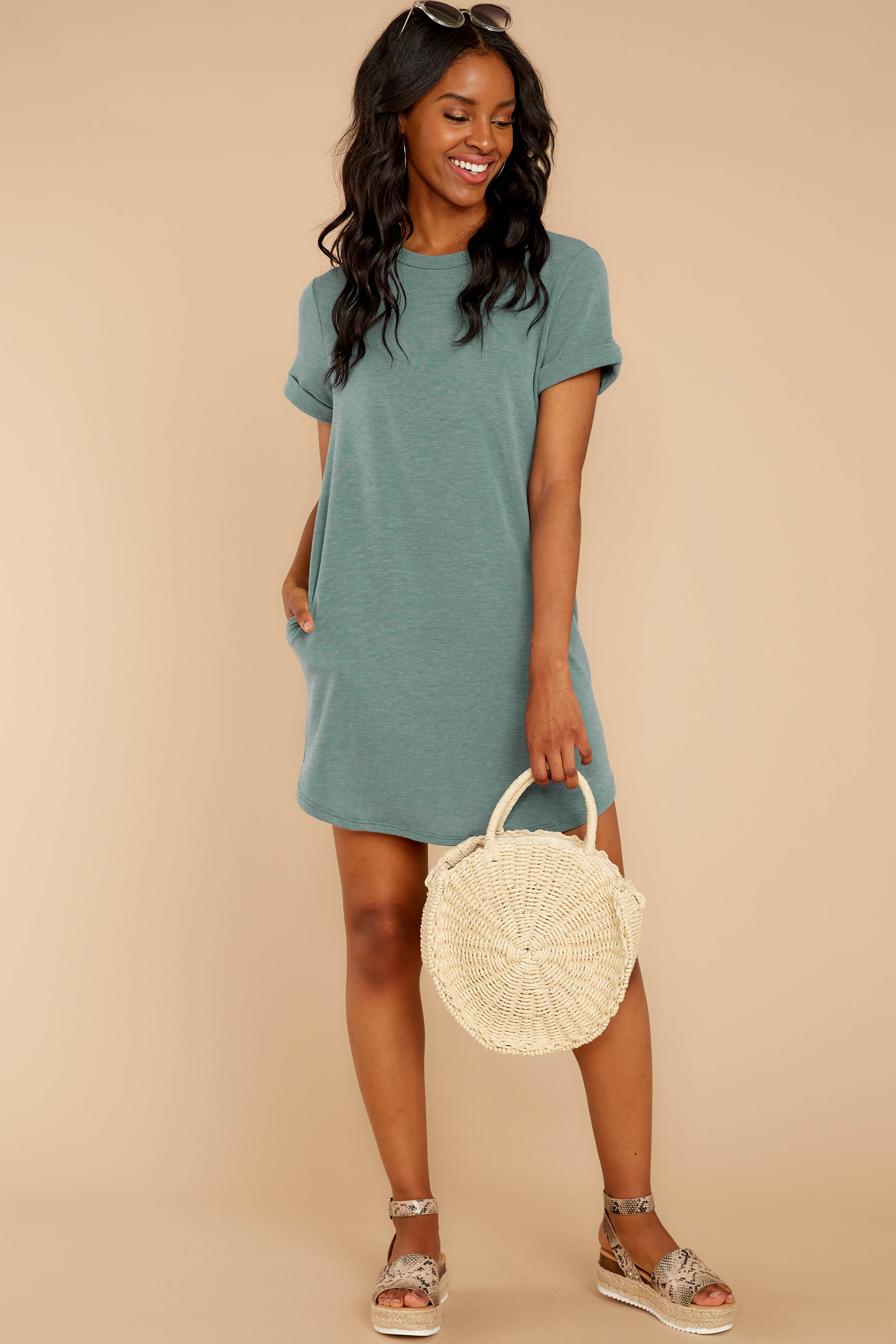 Uncomplicated Appeal Jade Dress