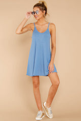 2 Do What You Need Periwinkle Dress at reddressboutique.com