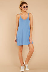 3 Do What You Need Periwinkle Dress at reddressboutique.com