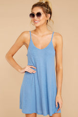 5 Do What You Need Periwinkle Dress at reddressboutique.com