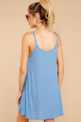 7 Do What You Need Periwinkle Dress at reddressboutique.com