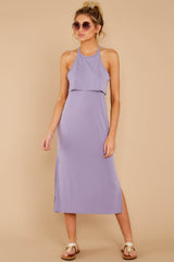 2 Casual Obsession Lilac Midi Dress at reddressboutique.com