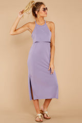 1 Casual Obsession Lilac Midi Dress at reddressboutique.com