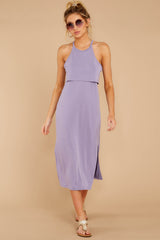 4 Casual Obsession Lilac Midi Dress at reddressboutique.com