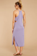 5 Casual Obsession Lilac Midi Dress at reddressboutique.com