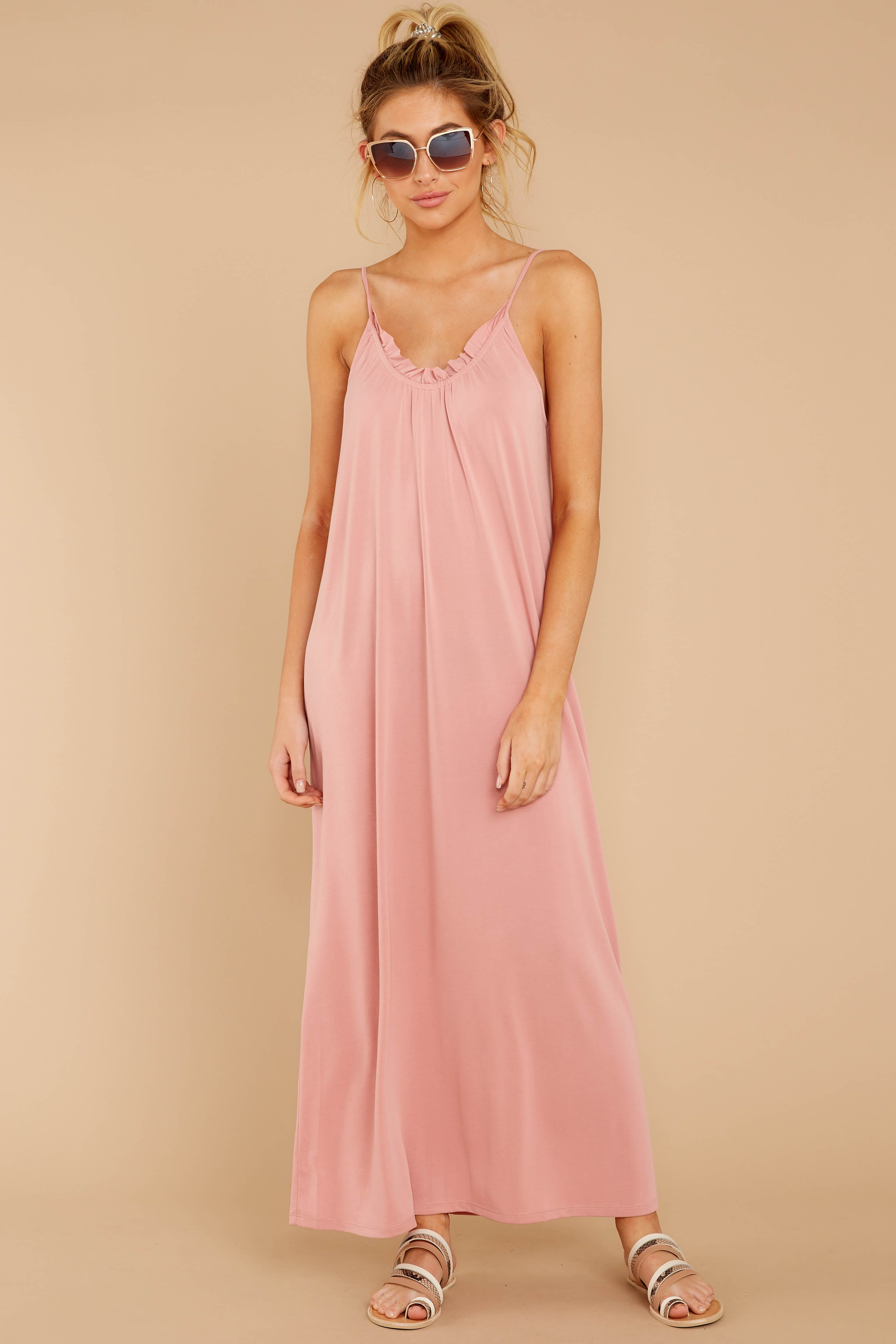 There Is Nothing Better Light Pink Maxi Dress