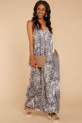 2 Got Away From You Brown Leopard Print Maxi Dress at reddressboutique.com