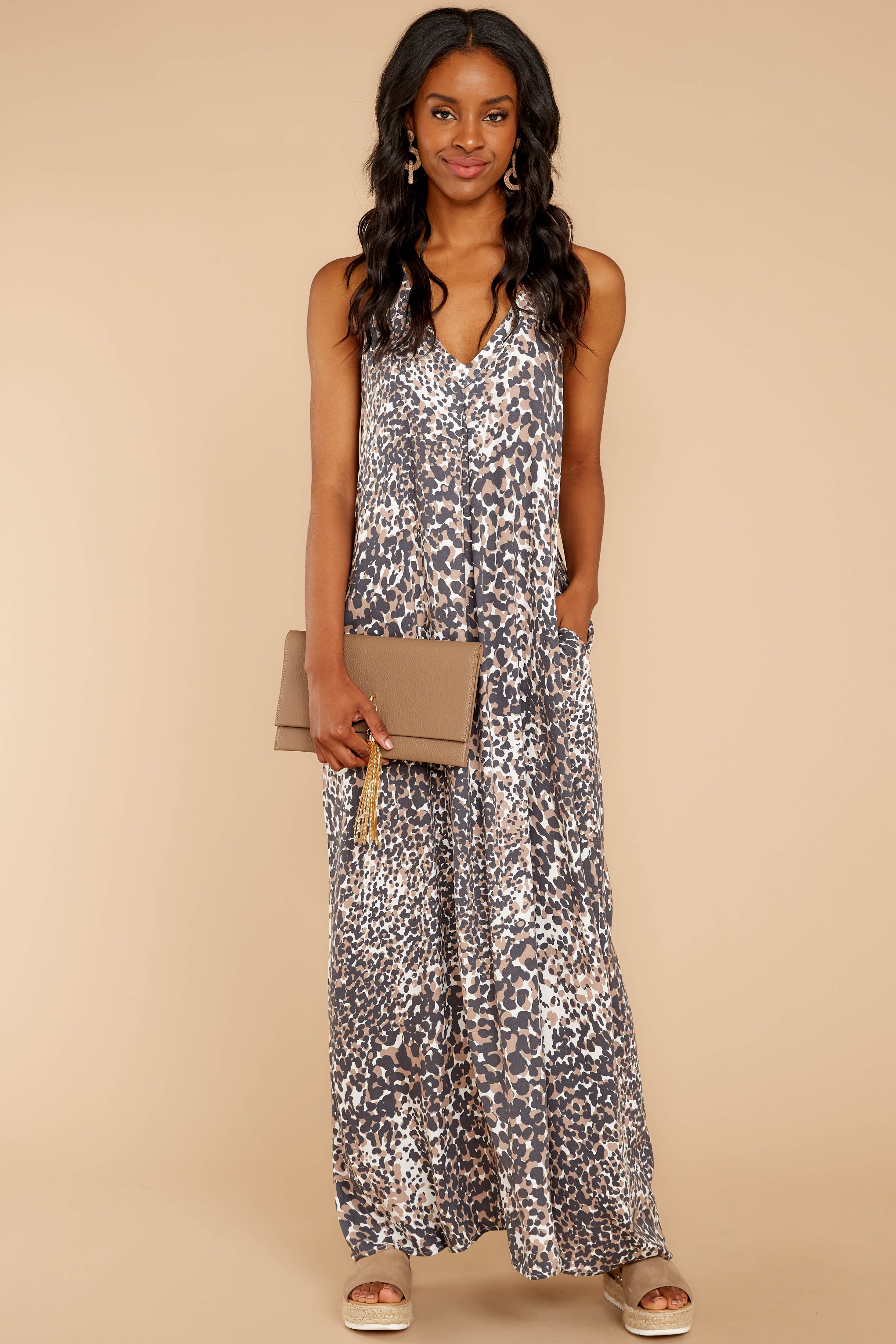 3 Got Away From You Brown Leopard Print Maxi Dress at reddressboutique.com