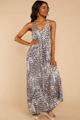 5 Got Away From You Brown Leopard Print Maxi Dress at reddressboutique.com