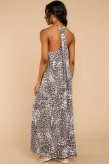 7 Got Away From You Brown Leopard Print Maxi Dress at reddressboutique.com