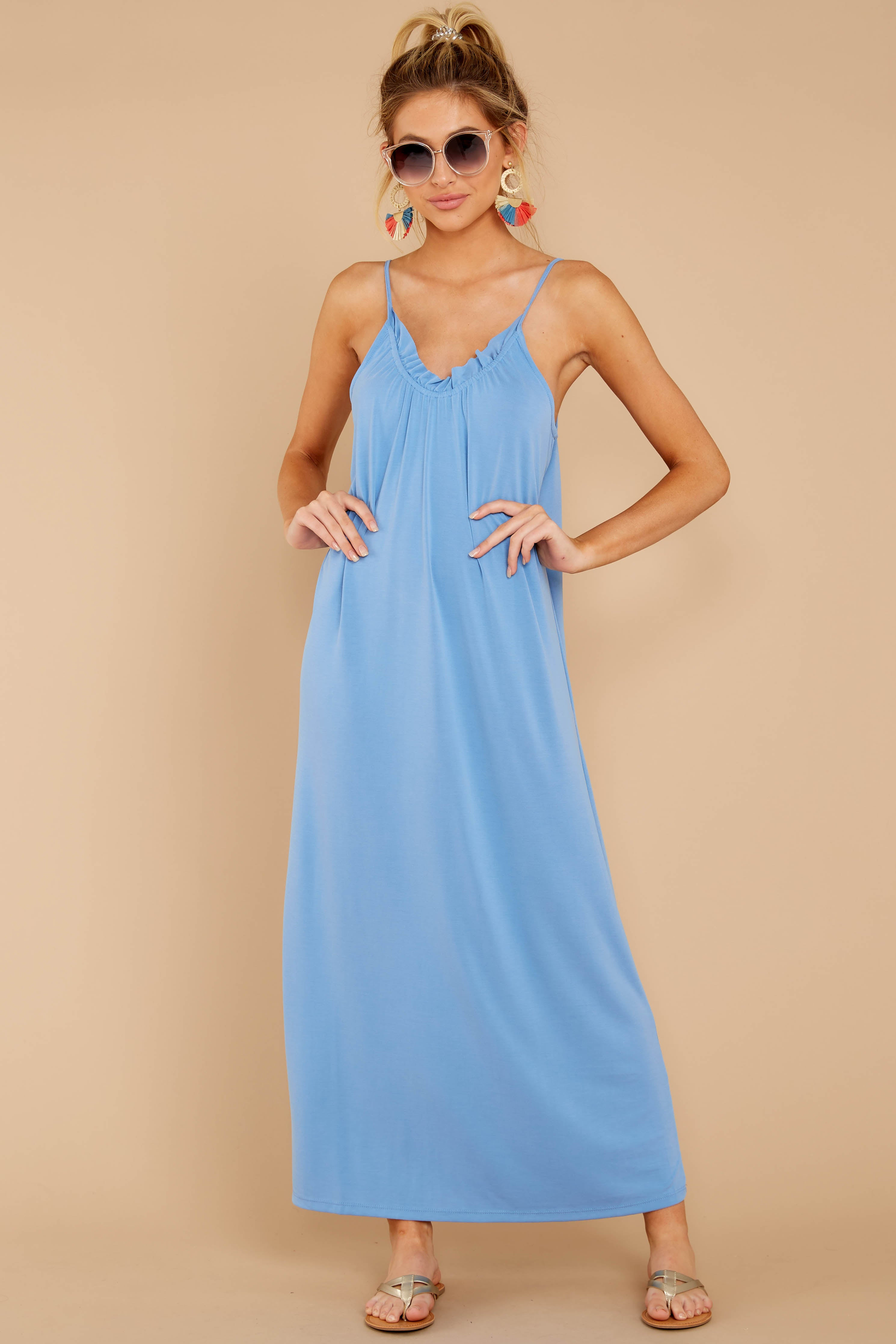 1 There Is Nothing Better Periwinkle Maxi Dress at reddressboutique.com