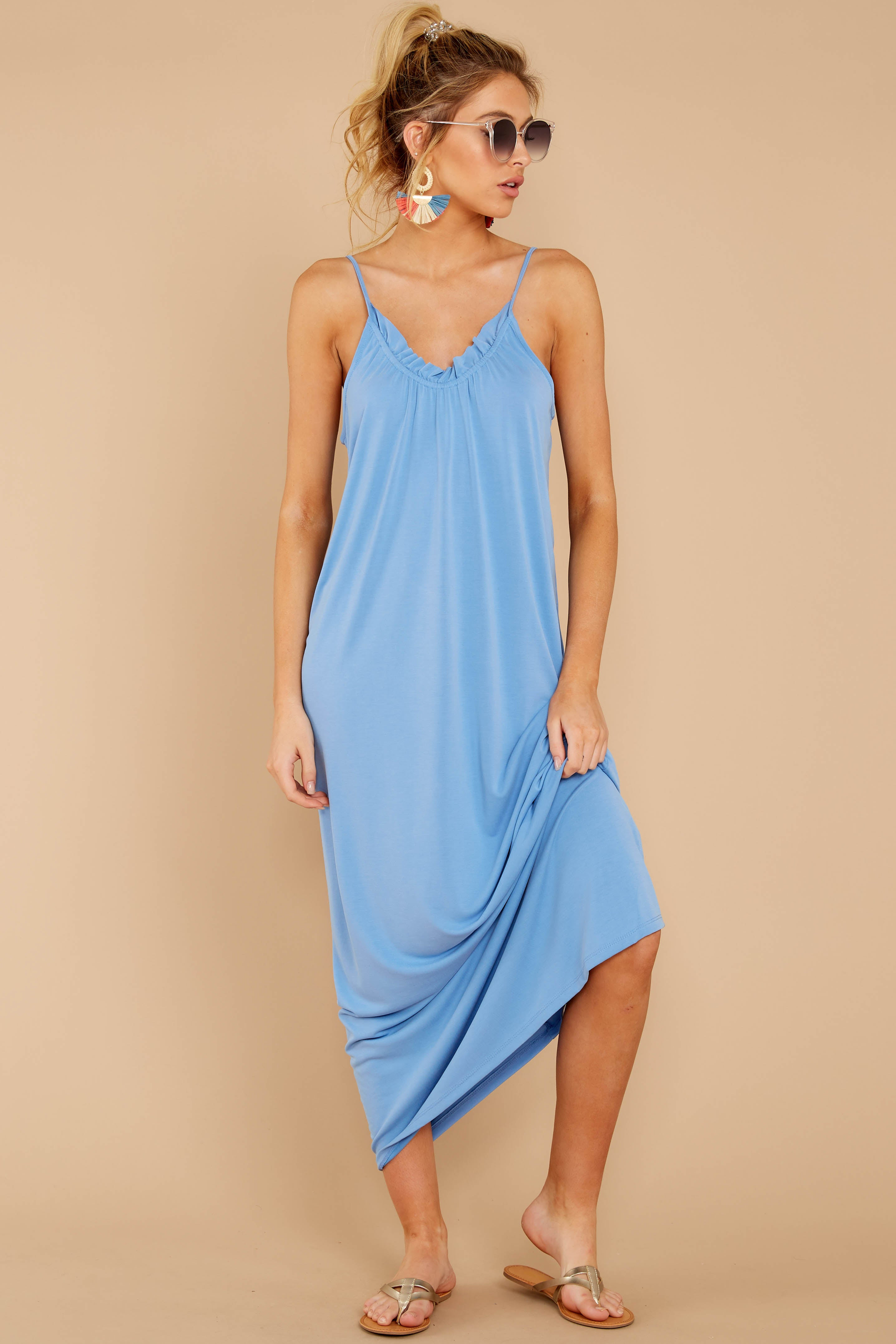 2 There Is Nothing Better Periwinkle Maxi Dress at reddressboutique.com