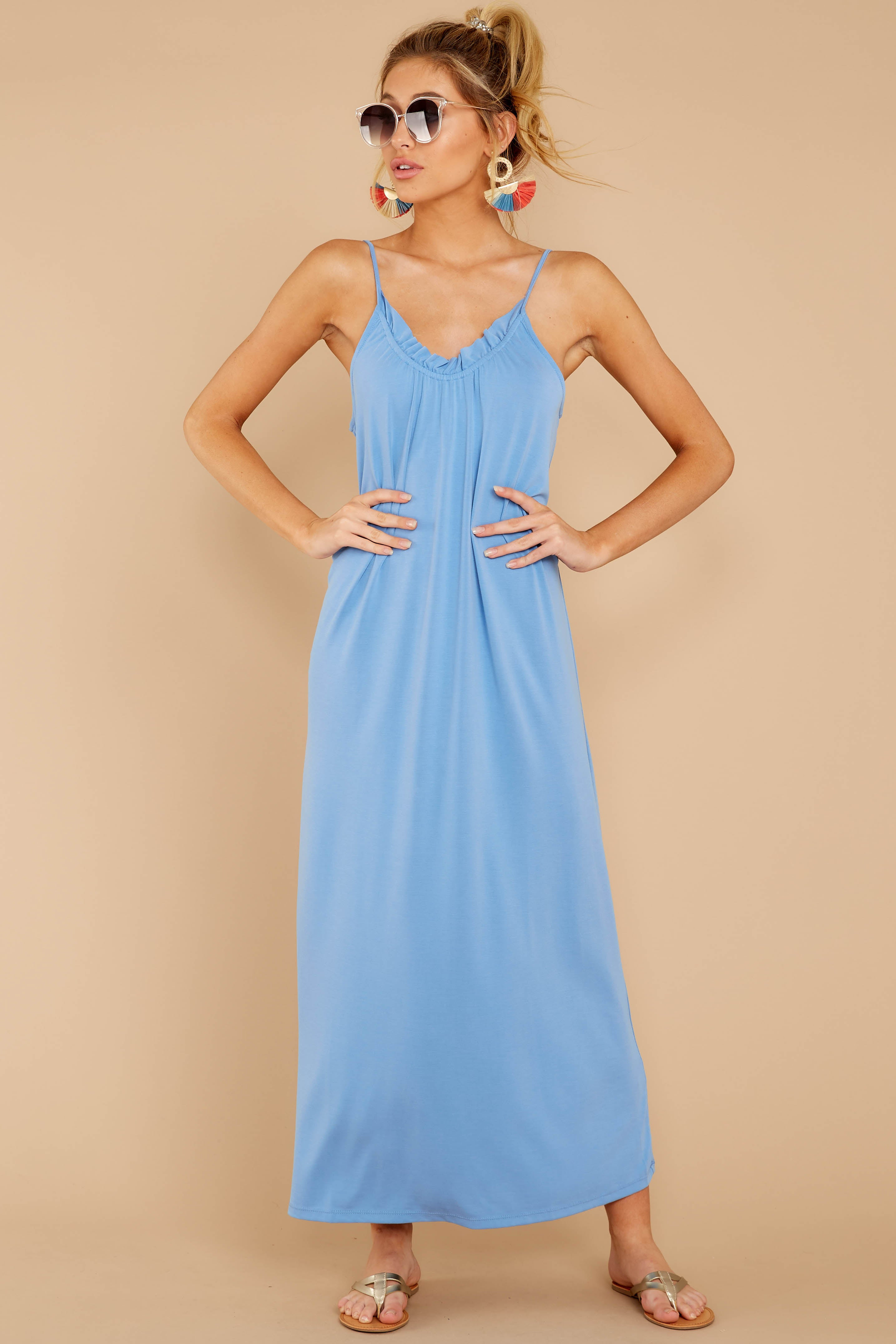 3 There Is Nothing Better Periwinkle Maxi Dress at reddressboutique.com