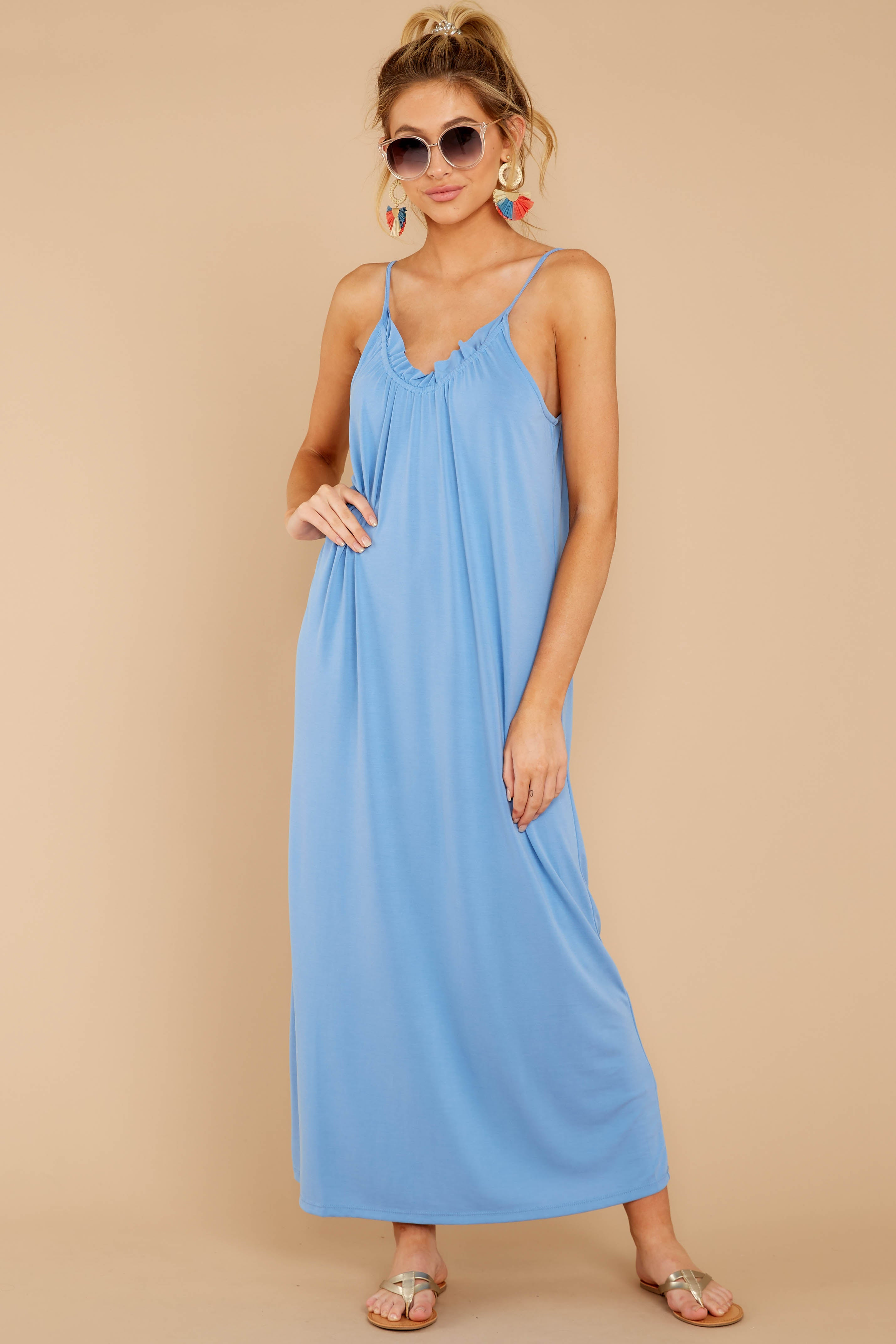 4 There Is Nothing Better Periwinkle Maxi Dress at reddressboutique.com