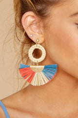 Embrace Freedom Beige Multi Earrings