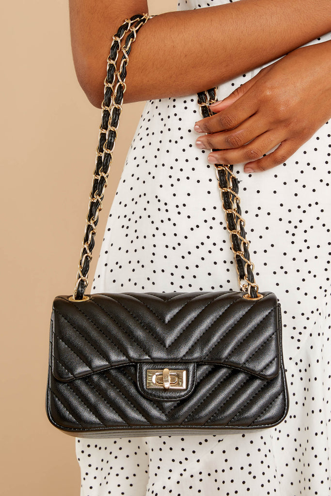 6 My Obsession Black Purse at reddressboutique.com