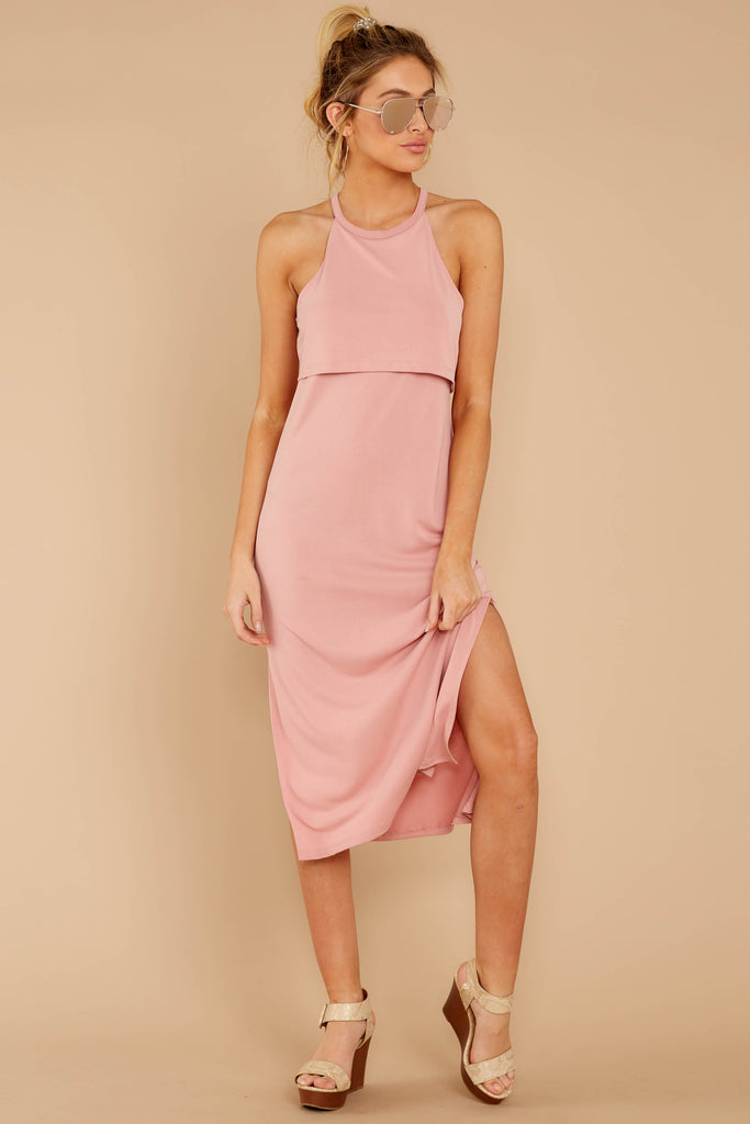 1 Smooth Talker Champagne Midi Dress at reddress.com