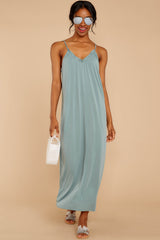 2 There Is Nothing Better Porcelain Green Maxi Dress at reddress.com